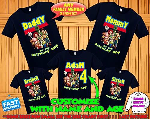 (Toy Story 4 Birthday Shirt, Toy Story 4 Custom Shirt, PersonalizedToy Story Shirt,Toy Story family shirts, Birthday t-shirt for girls and boys)