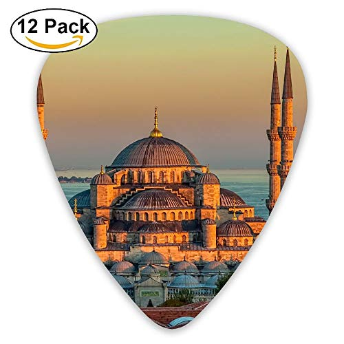 - Anticso Custom Guitar Picks, Sultan Ahmed Mosque Turkey Istanbul Sunrise Guitar Pick,Jewelry Gift For Guitar Lover,12 Pack