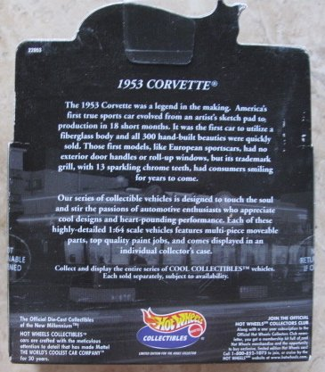 Buy mattel hot wheels 100 1953 corvette