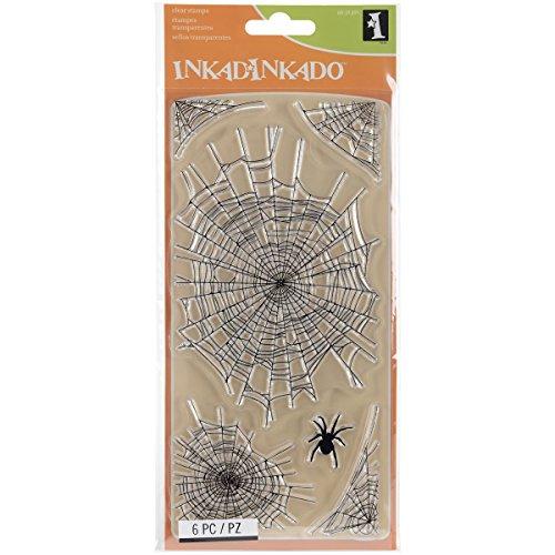 Inkadinkado 60-31291 Spider Webs Clear Stamp Set, Black -
