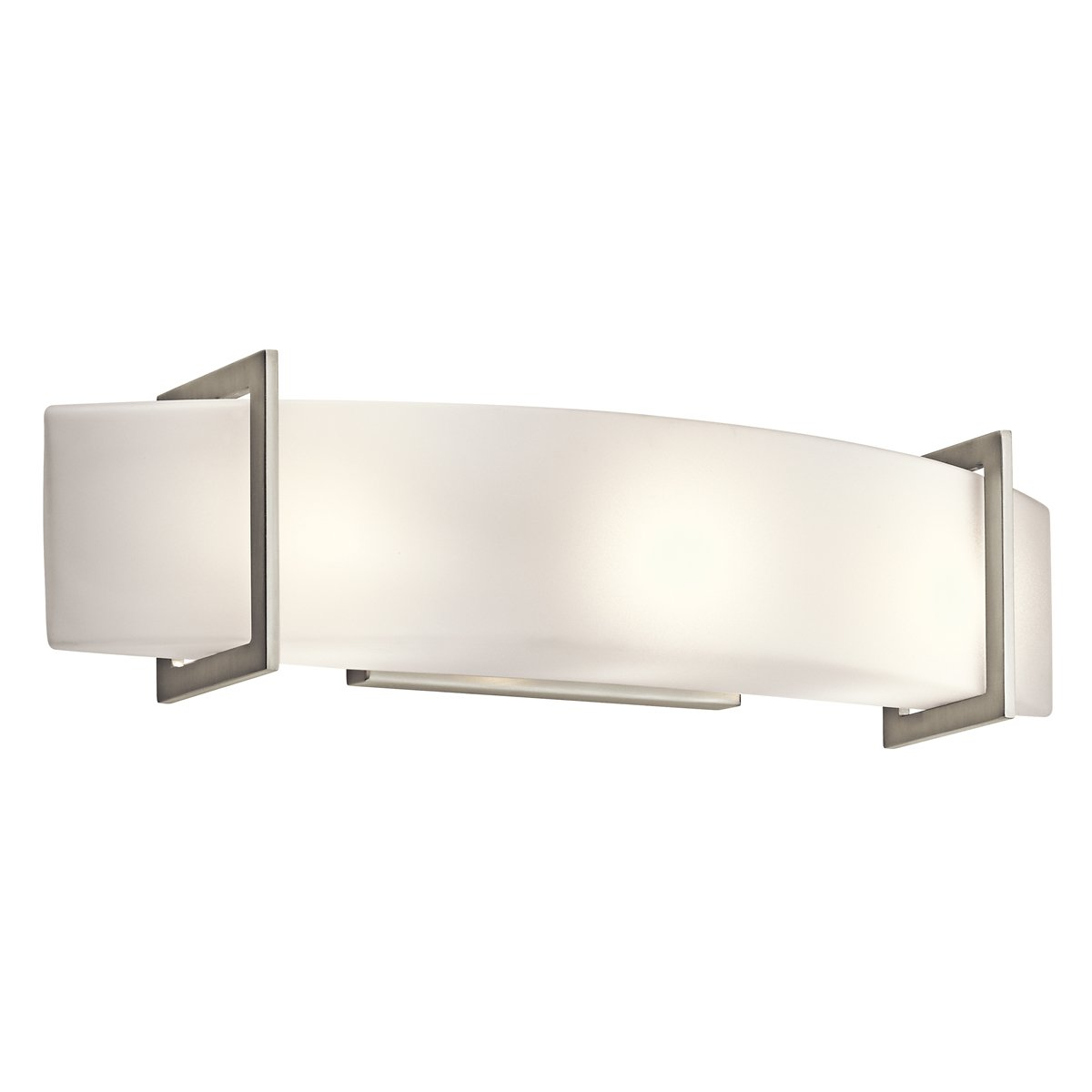 Kichler NI Crescent View Linear Wall Inch Brushed Nickel - Bathroom vanity lights in chrome