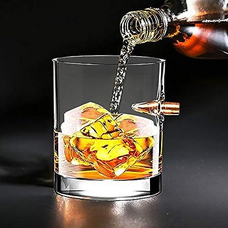 ZNEU Whisky y Vasos de Whisky,Sin Plomo Vasos de Cristal Whiskey - Vaso de Whisky con Grabado,Premium Transparente Drinking Cup,Regalo fara Los Amantes Del Whisky (#2)