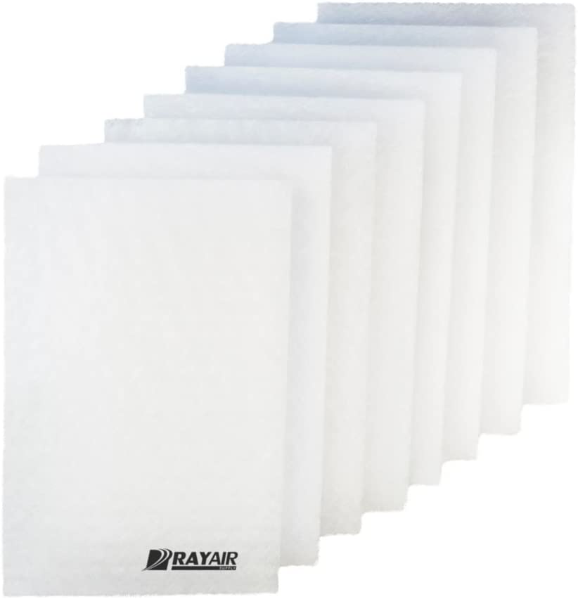 RayAir Supply 16x25 Respicaire CG MicroCLean 95 Air Cleaner Replacement Filter Pads 16x25 Refills (4 Pack)