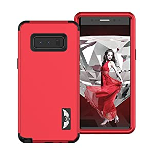 Galaxy Note 8 Case, AOKER [Perfect Desgin] Three Layer Heavy Duty Shockproof High Impact Resistant Hybrid Drop-Protection Best Protective Case Cover for Samsung Galaxy Note 8 (Red)