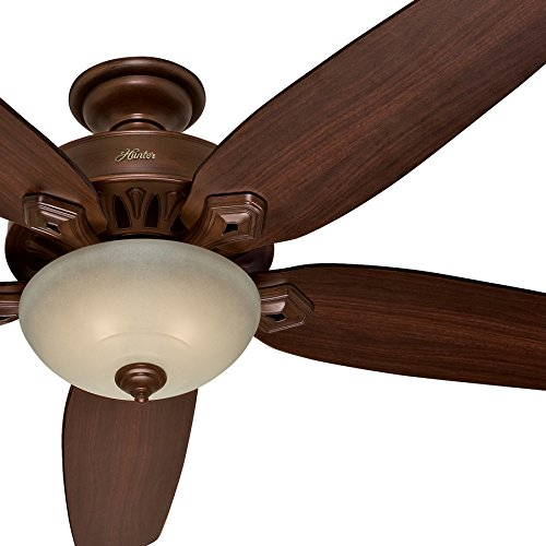 Hunter Fan 70'' Traditional Ceiling Fan in Northern Sienna with a Tea Stain Light Kit, 5 Blade (Certified Refurbished) by Hunter Fan Company