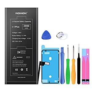 NOHON Battery Replacement Compatible for iPhone 7 Plus,Li-ion Battery 2900mAh with Complete Repair Tools Kits, Waterproof Adhesive and Instruction - Included 24 Month Warranty