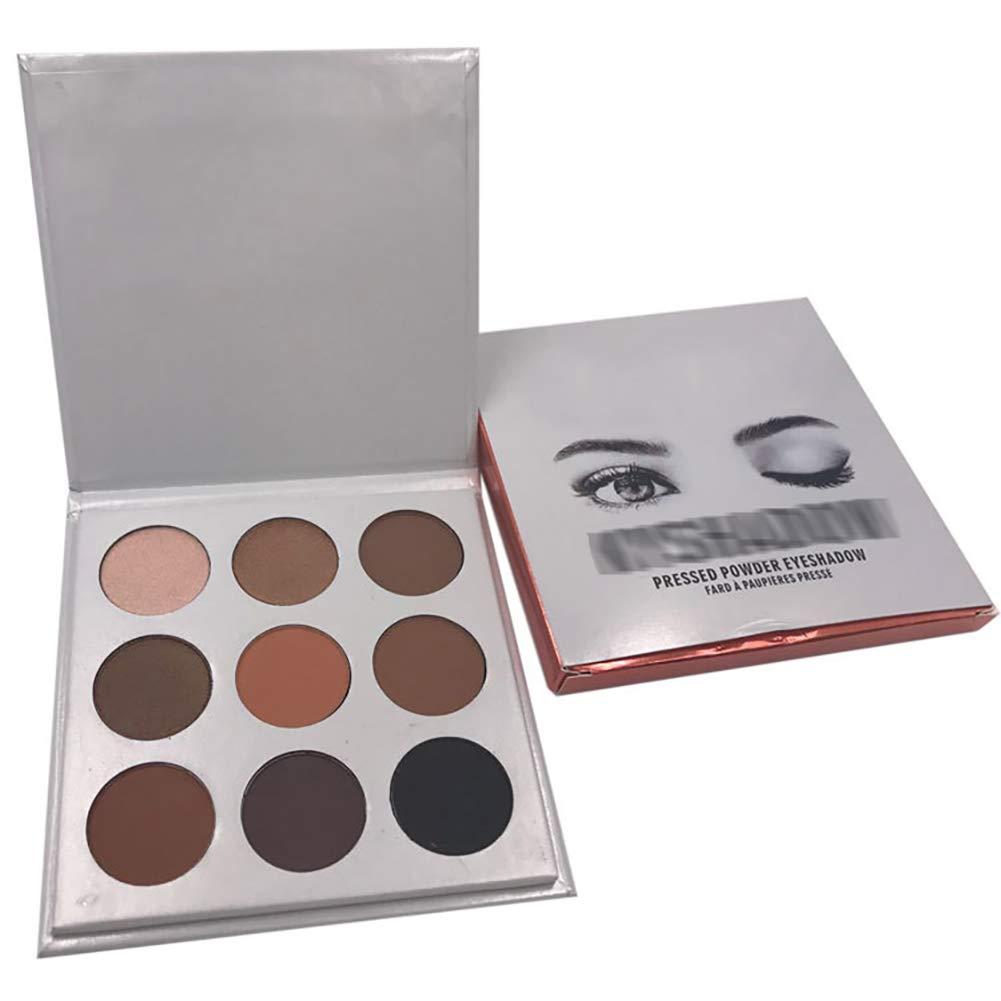 Sombra de sombras de maquillaje paleta 9 Colormix sombra de polvo mate de larga duración cosméticos maquillaje en polvo-bronce Hilai
