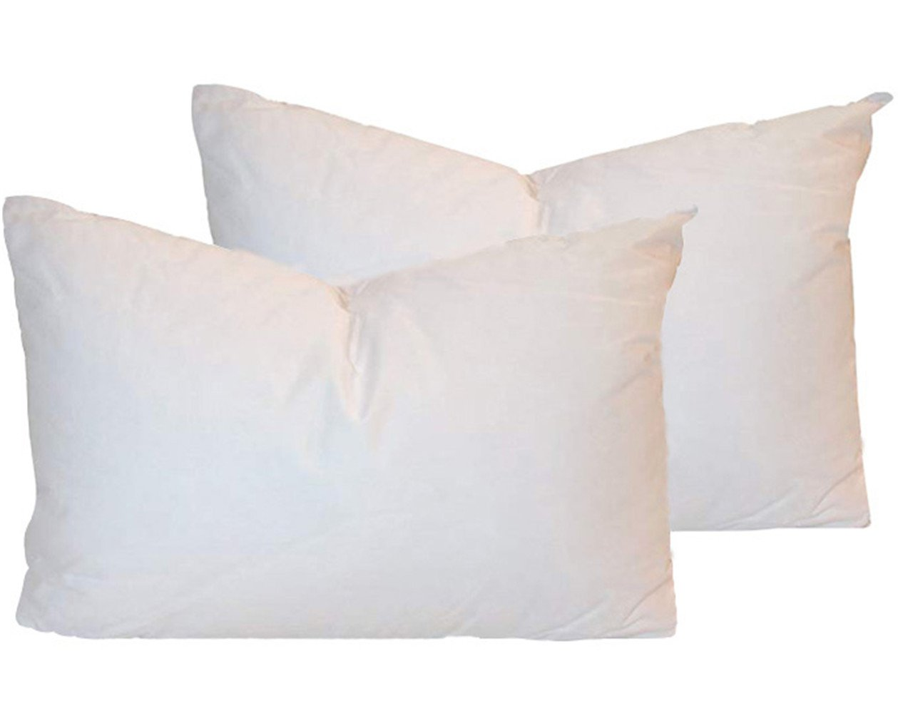NikiCains Down and Feather Square Pillow Insert Cotton Fabric Throw Pillows Sham Stuffer 12' 20'