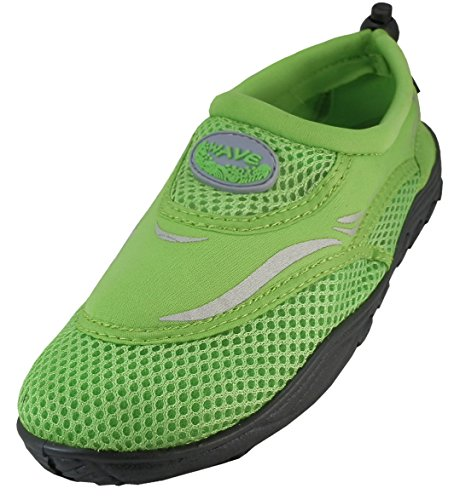 Cambridge Select Womens Slip-On Closed Toe Mesh Quick Dry Water Shoe Neon Green AuKOvJe2l