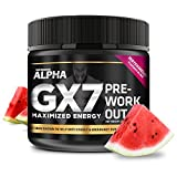 Alpha Gx7 Pre Workout Powder – Energy Drink for Workouts 245g – 30 Servings Watermelon Flavor Review