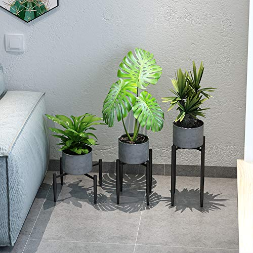 ZGXY 3 Pack Plant Stand Metal Potted Plant Holder for House, Garden,Patio, Black