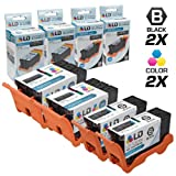 LD Compatible Set of 4 (Series 22) High Yield Black & Color Ink Cartridges for the Dell P513w, V313, V313w Printers: 2 Black T091N, 2 Color T092N