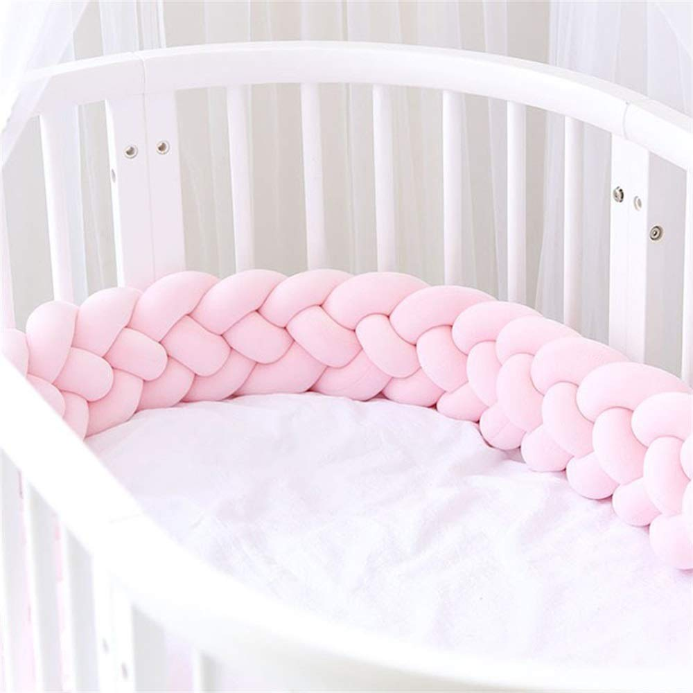 Color : A, Size : 2.2m Yezi Bumpers Baby Crib Bumper Knotted Braided Soft Cot Bumper Braid Pillow for Crib Nursery