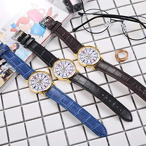 XBKPLO Watches Fashion High-end Blue Glass Temperament Ladies Fine Quartz Analog Wrist Watch Leather Strap Bracelet Jewelry Gift by XBKPLO (Image #3)
