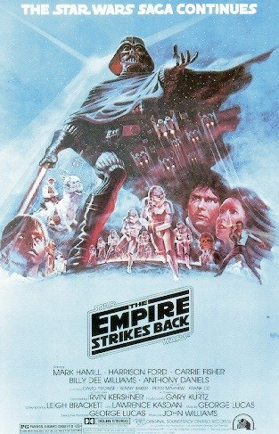 Star Wars: Episode V - The Empire Strikes Back - Movie Poster: Style 'B' (Size: 27'' x 40'') - Revenge Of The Jedi