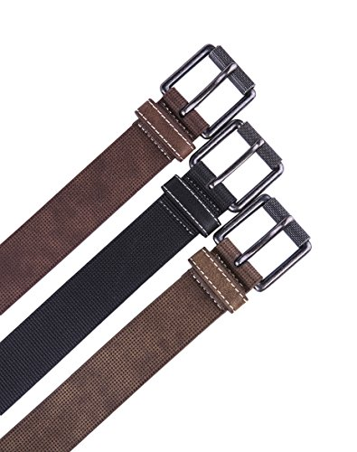 Belt for men, Fashion and Classic Leather belt for Jeans and Work Business - Big Sale New Belts (32, 1 D Brown) by Fabio Valenti (Image #3)