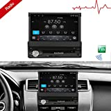 Ezonetronics Android 6.0 Quad Core Single Din 7 inch Capacitive Touch Screen High Definition 1024x600 GPS Navigation Bluetooth USB SD Player 1G DDR3 + 16G NAND Memory Flash CT0013