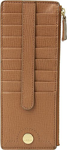 Lodis Women's Business Chic Rfid Credit Card Case with Zipper Pocket, Caramel, One Size by Lodis