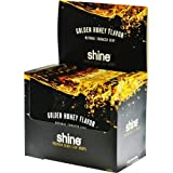 Shine Double Cup Leaves Natural Shade Rolling Leaf Wrap Paper Thin 3 Per Pack Golden Honey Pack Of 16