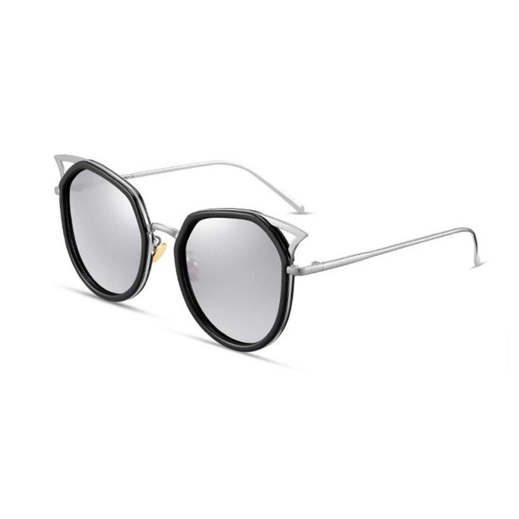 5 BYCSD Women's Sunglasses Cat Eye Fashion Polarizer Metal Bridge Design Mirror and Solid Driving Eyewear (color   005)