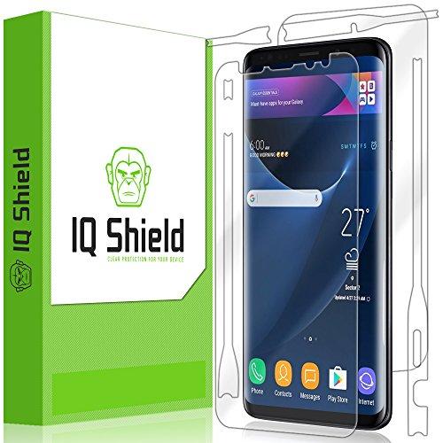 Galaxy S9 Screen Protector, IQ Shield LiQuidSkin Full Body Skin + Full Coverage Screen Protector for Galaxy S9 HD Clear Anti-Bubble Film