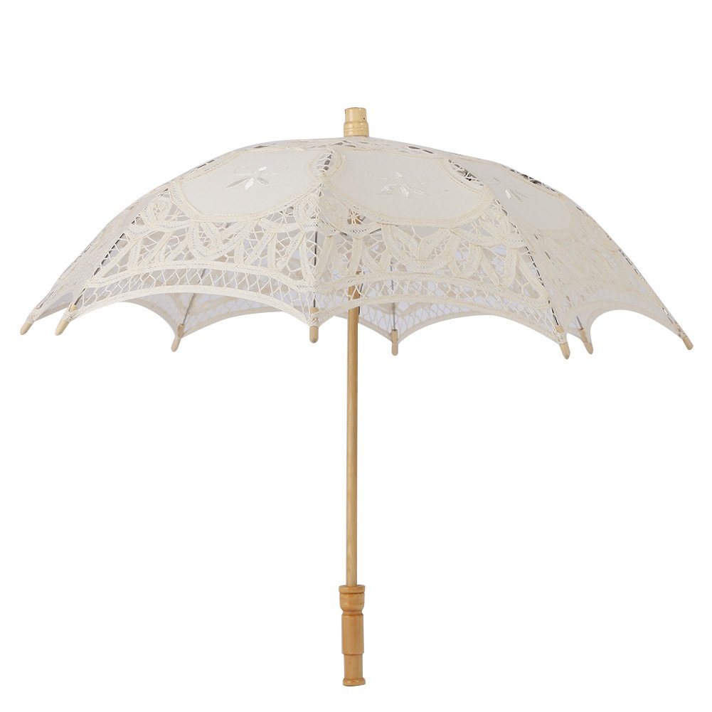 Kids Lace Sun Umbrella,Gsha Handmade Cotton Parasol Umbrella Costume Accessory 3-5Years by Gsha (Image #2)