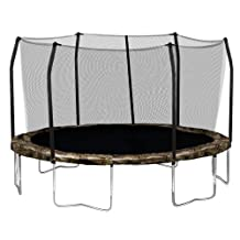 Skywalker Trampolines Round and Enclosure Combo with Spring Pad