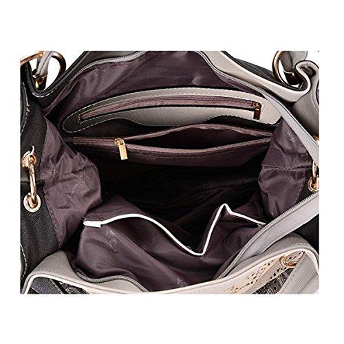 Womens Signature Printing Red Handbag Leather Casual Bag Shoulder Pu Tote 74RBWFTqnn