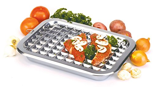 Kitchen, Dining & Bar NORPRO 274 Broiler Pan and Roast Set 16.5 inch X 12 inch Stainless Steel
