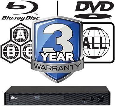 LG BP450 MULTIREGION 3d Smart Blu-ray Player: Amazon.es: Electrónica