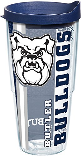 Tervis 1229511 Butler Bulldogs College Pride Tumbler with Wrap and Navy Lid 24oz, (Butler Tumbler)