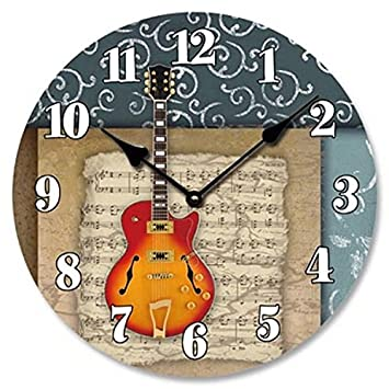 Amazoncom Music Theme Wall Clock 15 Home Kitchen