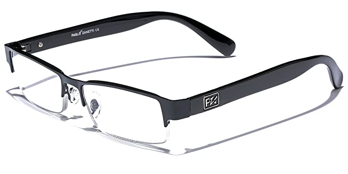 ed9c5579ba5 Rectangular Half Frame Reading Glasses Fashion Designer Eyeglasses ...