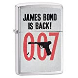Celebrities Zippo Lighter Outdoor Indoor Windproof Lighter Free Customize Personalized Engrave Message Permanent Lifetime Engraving on Backside (James Bond 007)