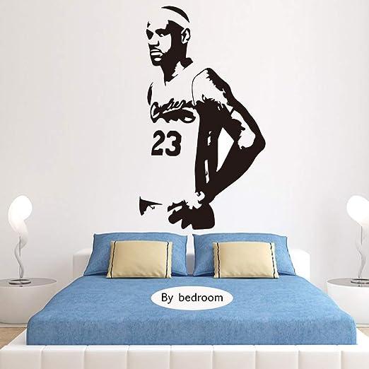 zqyjhkou Lebron James Lakers Baloncesto Vinilo Etiqueta de ...