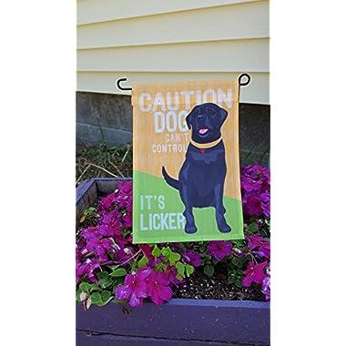 Black Labrador Garden Flag