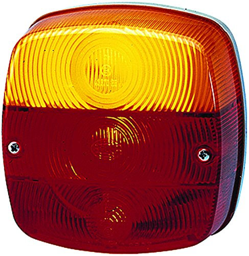 HELLA 002578701 2578 Series Red/Amber Stop/Turn/Tail/License Plate Lamp
