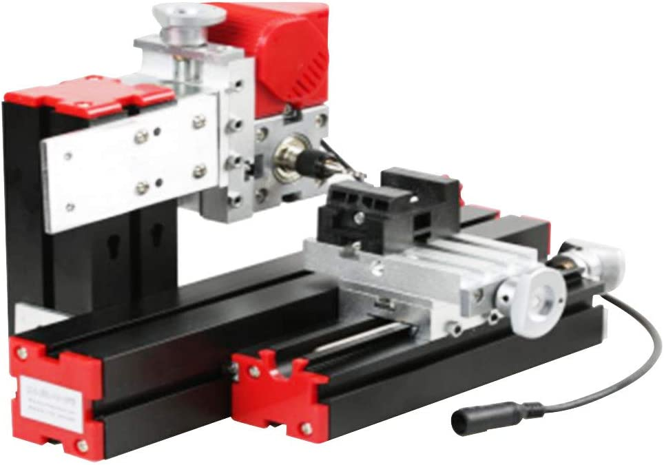 Mini Multi-Functional 6 in 1 Jigsaw Grinder Driller Woodworking Lathe Drill Tool for Wood Metal Lathes Milling Redxiao Motorized Jigsaw Grinder