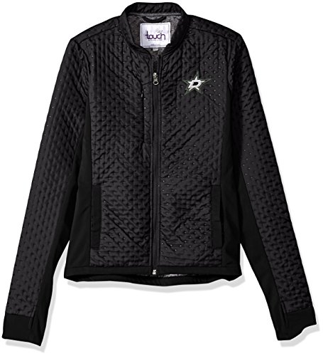 Touch by Alyssa Milano NHL Dallas Stars Women's Lead Off Jacket, Black, X-Large