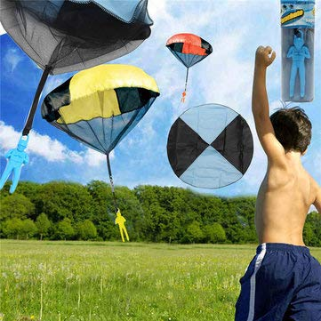 5PCS Random Color Skydiver Kids Toy Throwing Parachute Kite Outdoor Play Game Toy - Learning & Education Plane & Parachute Toys - 5 X Toy Parachute by Unknown (Image #1)