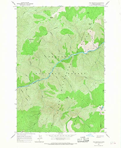 YellowMaps Fog Mountain ID topo map, 1:24000 Scale, 7.5 X 7.5 Minute, Historical, 1966, Updated 1968, 26.9 x 22 in - Paper