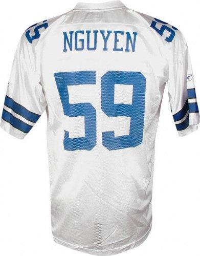 info for b4706 8656d Reebok Dat Nguyen White NFL Replica Dallas Cowboys Jersey ...