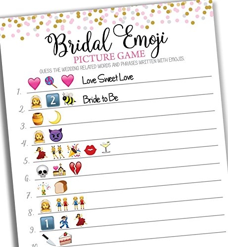 amazoncom bridal shower emoji picture game 50 sheets baby