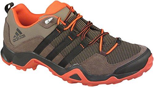 Sneakers Da Trekking Adidas Outdoor Uomo In Misto Cotone Grigio Sfumato / Grigio / Grassetto Arancione