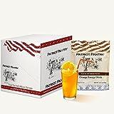 Patriot Pantry Orange Energy Drink Mix Case Pack (56 servings, 7 pk.) Bulk Emergency Storage Food Supply, Up to 25-Year Shelf Life