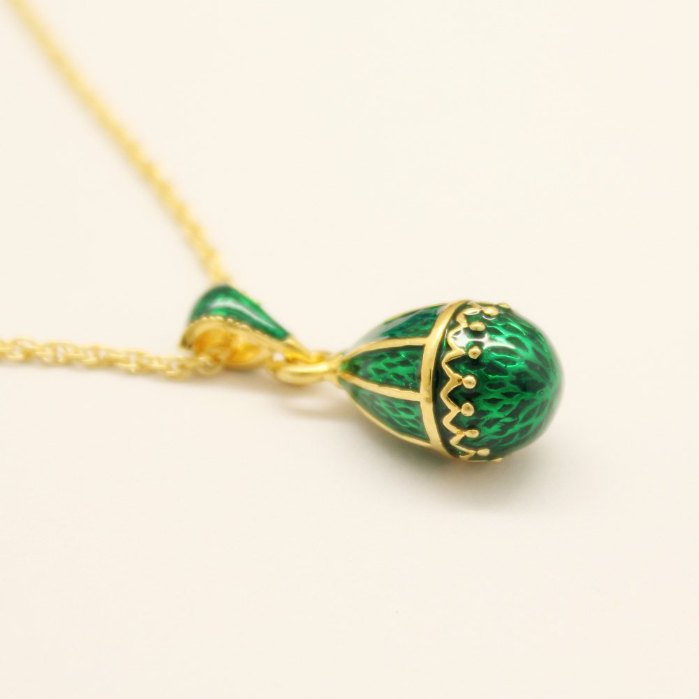 MYD Jewelry Cute Girls Metal Jewelry Gift Russia Faberge Egg Pendant Necklace