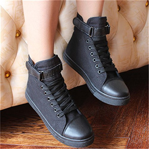 Better Annie Women Promotion Canvas Shoes For New Spring and Autumn Female High-Top Pure Black White Classic Casual Footwear Size 35-40