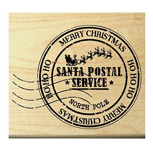 (P62 Santa Claus Postmark rubber stamp HO HO HO)