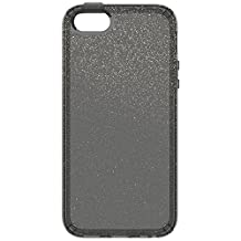 Speck Products CandyShell Clear Case for iPhone SE/5S/5, Retail Packaging, Obsidian Gold Glitter/Obsidian