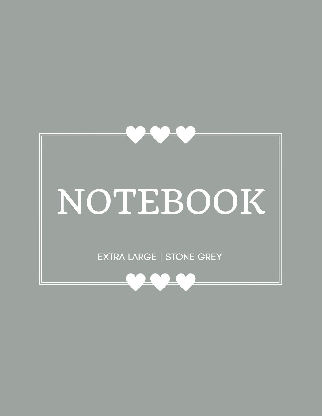 Notebook Extra Large: Stone Grey: Notebook 8.5 x 11: Notebook 400 Pages pdf epub